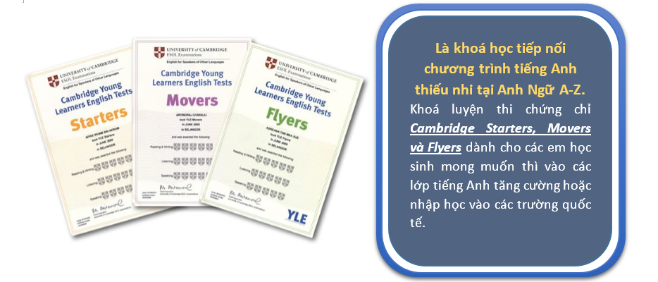 Luyện thi STARTERS/MOVERS/FLYERS
